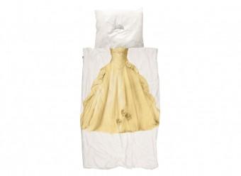 Snurk-Bettwäsche-Prinzessin-Perkal-gelb