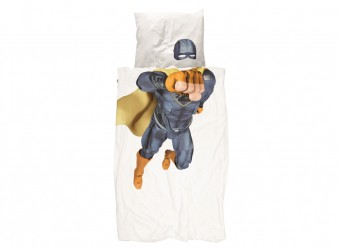 Snurk-Bettwäsche-Superheld-Perkal