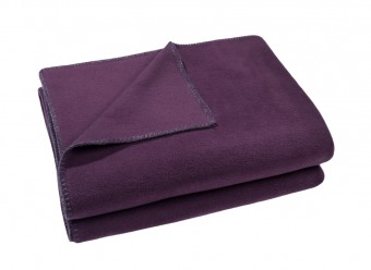 Zoeppritz-Kuscheldecke-Soft-Fleece-blackberry