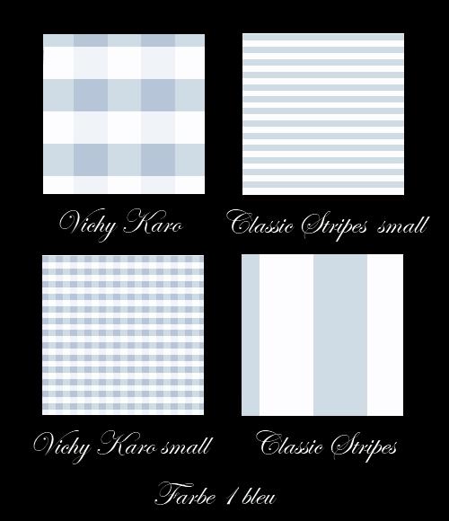 Klassische Bettwäsche in der Farbe bleu